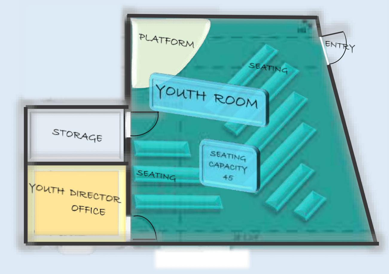 Youth Room Floor Plan